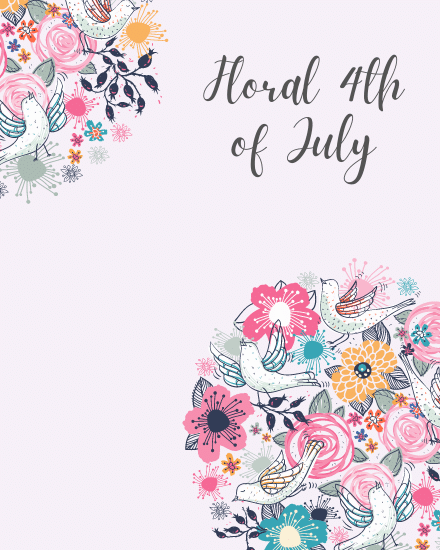 create free Floral July group card