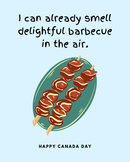create free delightful barbecue group card