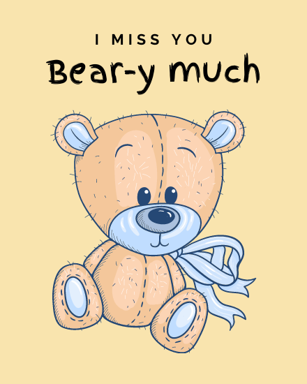 create free Beary Much group card
