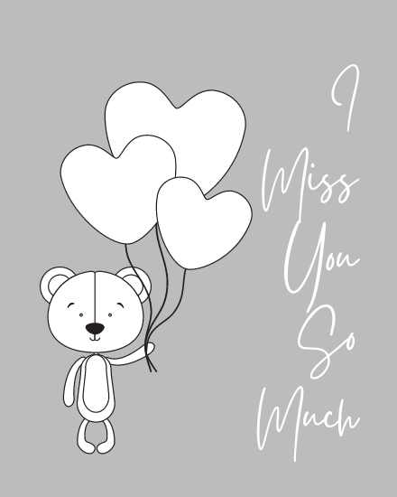 create free Miss You Alot group card