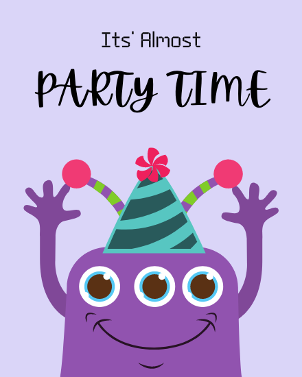 create free Party Time group card