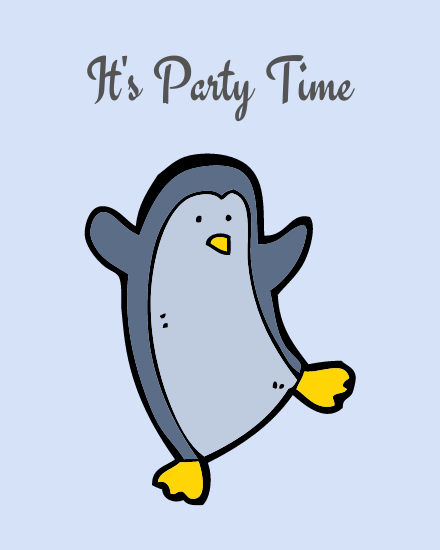 create free its party time group card