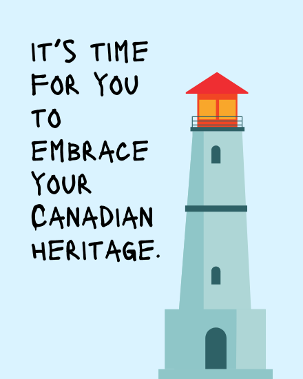 create free Canadian Heritage group card
