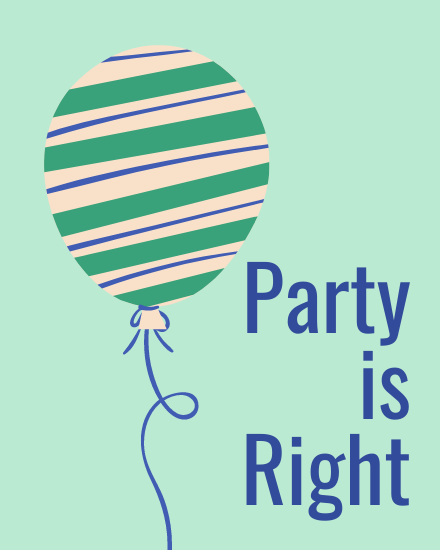 create free Party is Right group card