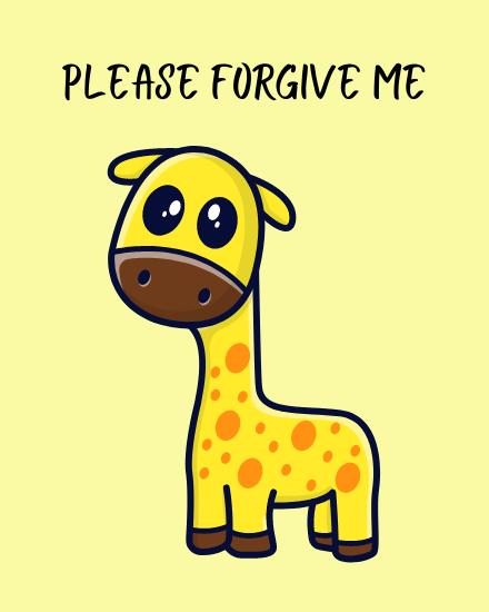 create free Please Forgive Me group card