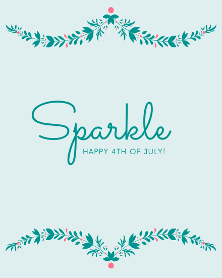 create free Sparkle 4th July group card