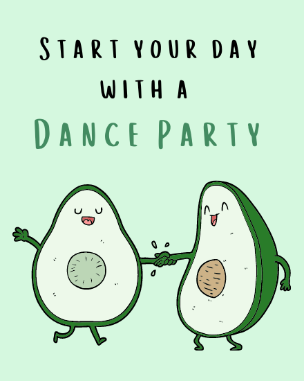 create free Dance Party group card