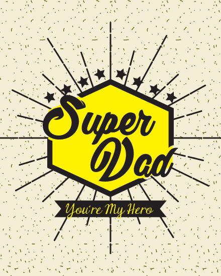 create free Super Dad group card