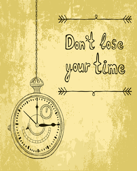 create free About time group card