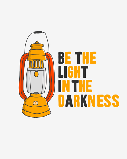 create free Be the light darkness group card