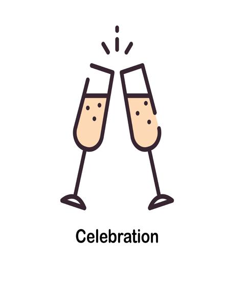 create free Celebration glass group card