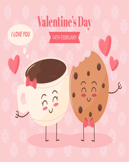 create free Cookie with tea group card