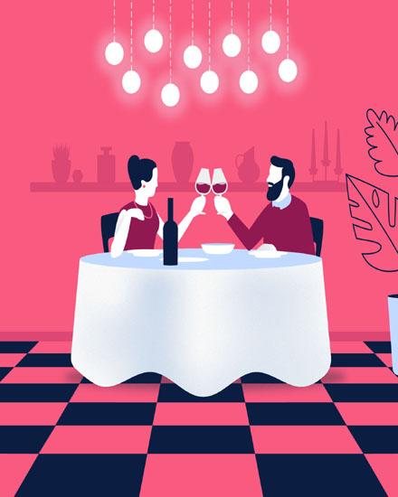 create free Couple dinner group card