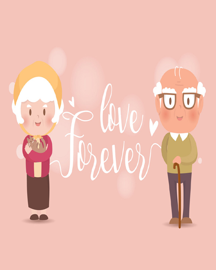 create free Forever love group card