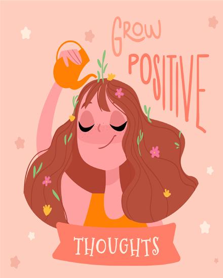 create free Grow positive group card