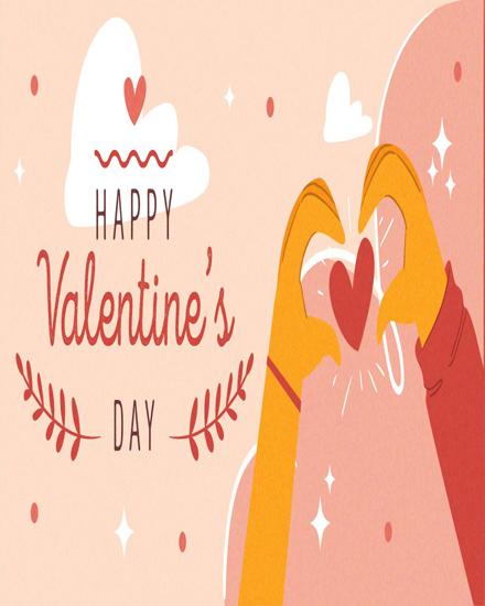 create free Hand heart gesture group card
