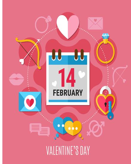 create free Heart key lock group card