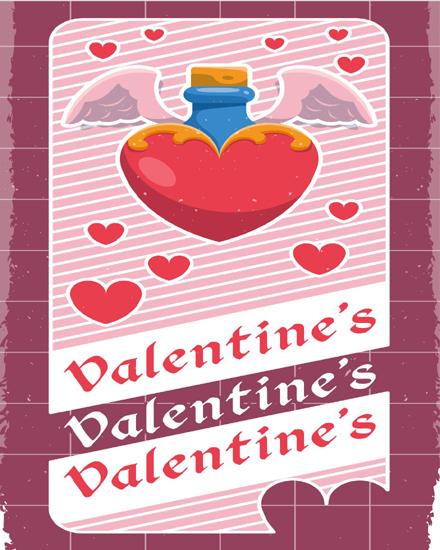 create free Heart wings group card