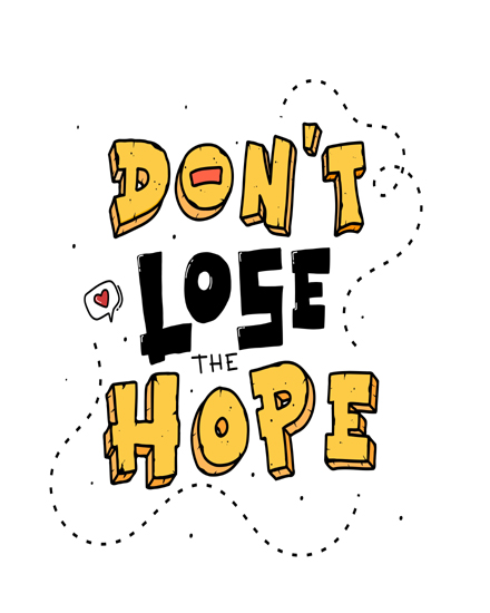 create free Lose hope quote group card