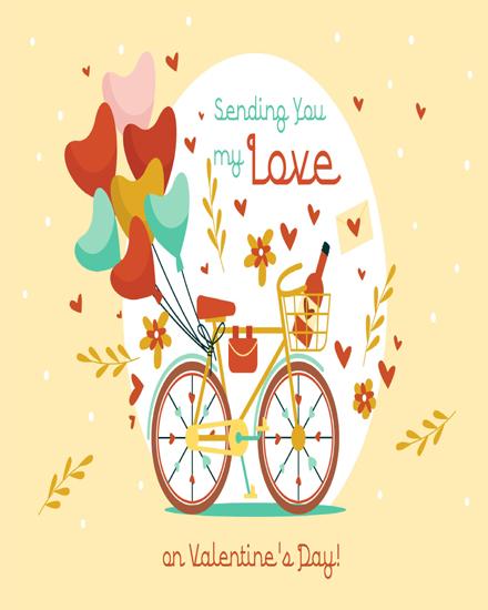 create free Love on cycle group card