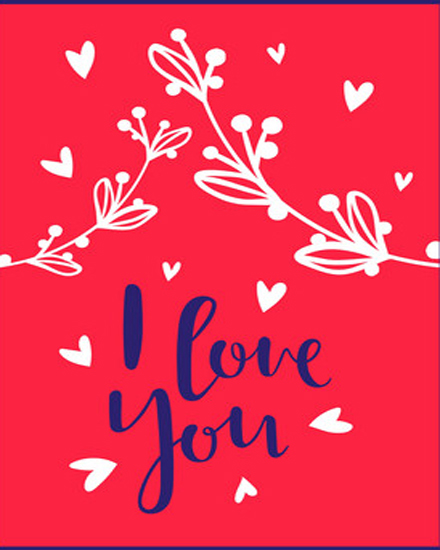 create free Red Decorative group card