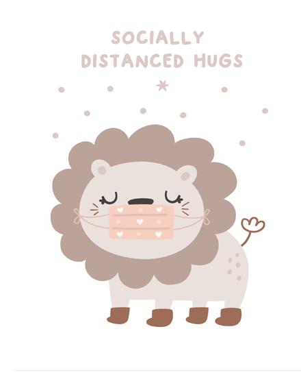 create free Socially Distanced Hugs group card