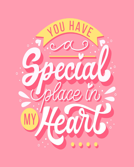 create free Special place in heart group card
