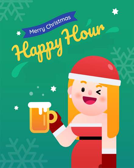 create free Women celebrating christmas group card