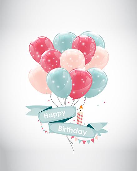 create free Balloons Birthday group card