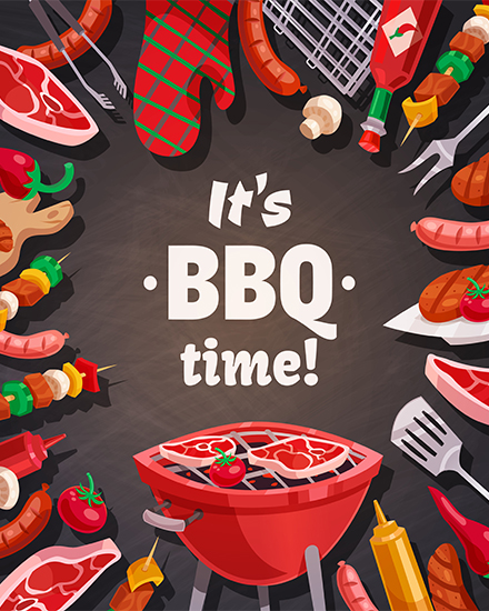 create free Bbq party group card