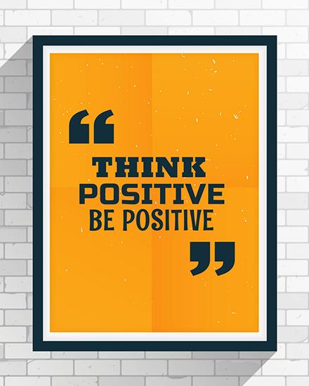 create free Be posiive group card
