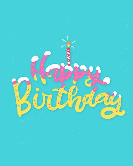 create free Birthday Lettering group card