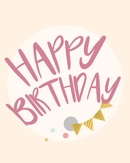 create free Birthday Typography group card