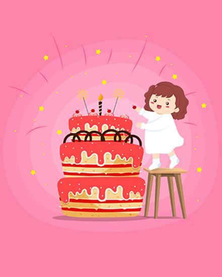 create free Cherry  Cake group card