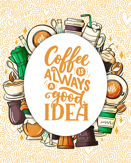 create free Coffee party group card
