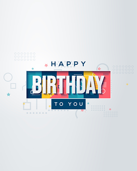 create free Colorful Birthday group card