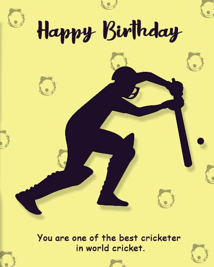 create free Cricketer's Birthday group card