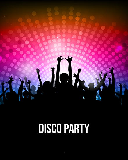 create free Disco party group card