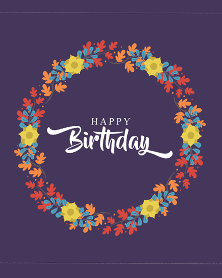 create free Floral Birthday group card