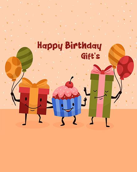 create free  Birthday Gift group card