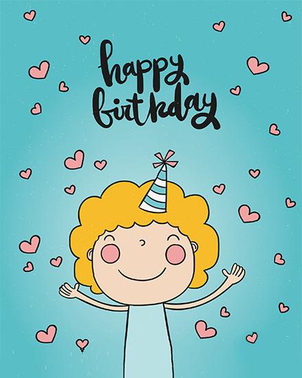 create free Girl's Birthday group card