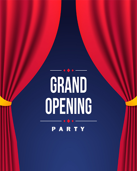 create free Grand opening party group card