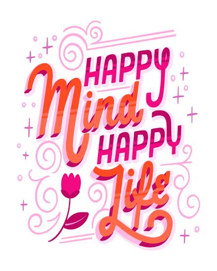 create free Happy mind  group card