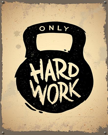 create free Hard work group card