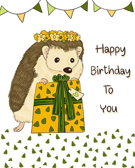 create free Hedgehog Gift group card
