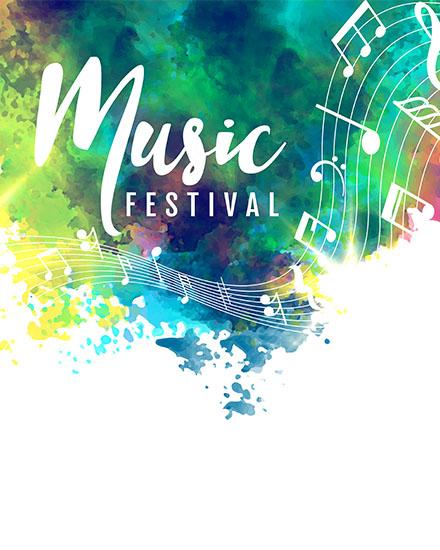 create free Music festival group card