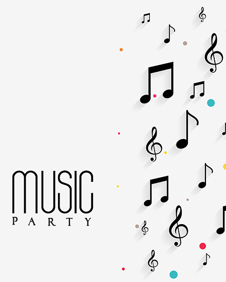 create free Music party group card