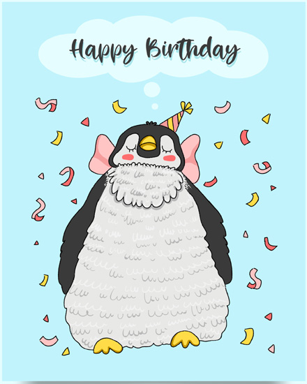 create free Penguin Birthday group card