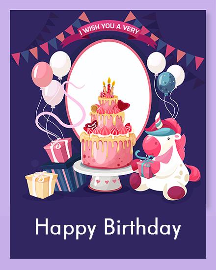 create free Pink  Cake group card
