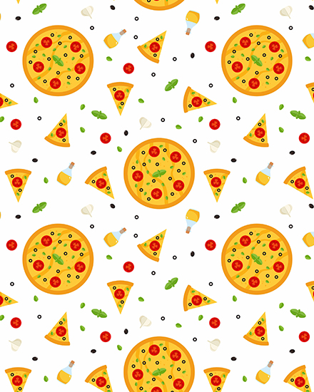 create free Pizza party group card